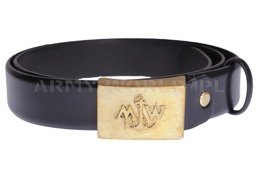 Polish Navy Leather Belt Black Military Surplus New