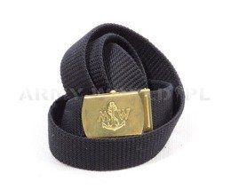 Polish Navy Webbing Belt Black Original New