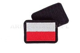 Polish flags set of  2 pieces white-red Emblem New