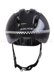 Protective Bicycle Helmet V9-C Police Black Used