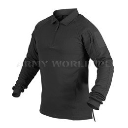 Range Polo Long Sleeve Shirt Helikon-Tex Black