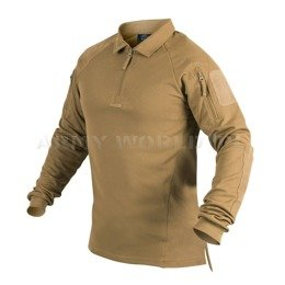 Range Polo Long Sleeve Shirt Helikon-Tex Coyote