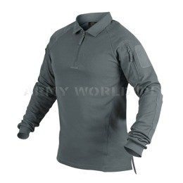 Range Polo Long Sleeve Shirt Helikon-Tex Shadow Grey