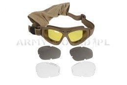 Revision Bullet Goggles Ant Made in USA Ballistic Desert Used  Damaged