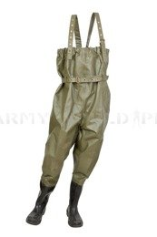 Rubber Waders Rainproof  Hevea / Limex Bundeswehr Original Used