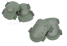 Set Of Knee And Elbow Protectors M2 Olive Original Used