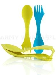 Set of two tool kits with ETUI SPORKS'n CASE Light My Fire Cyan/Lime New