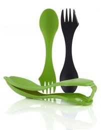 Set of two tool kits with ETUI SPORKS'n CASE Light My Fire Green/Black New