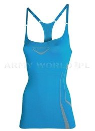 Strap Tank for Ladies Fitness Brubeck Azure