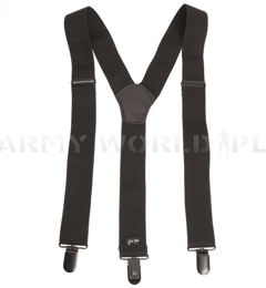 Suspenders Mil-tec Black New