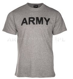 T-shirt ARMY Grey /  short sleeves Mil-tec New