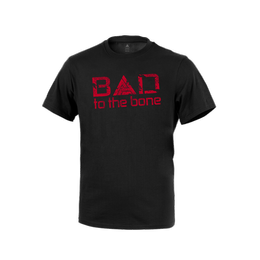 "T-shirt Direct Action® ""Bad to the Bone"" Black New"