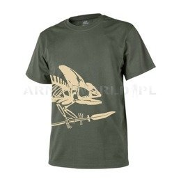 T-shirt Helikon-Tex Full Body Skeleton Olive Green