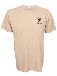 T-shirt With Badge Beige Original Used