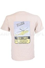 T-shirt With Print Taxi Beige Original Used