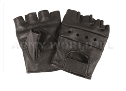 Tactical Gloves without fingers Paintball ASG Black Mil-tec New