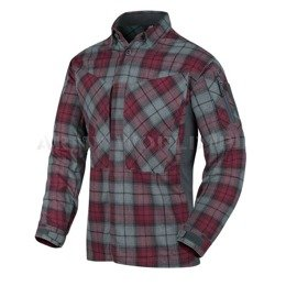 Tactical Shirt MBDU Flannel®  Long Sleeves Helikon-Tex Ruby Plaid