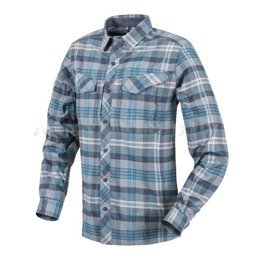 Tactical shirt Defender Mk2 Pilgrim Long Sleeves  Helikon-Tex Blue Plaid