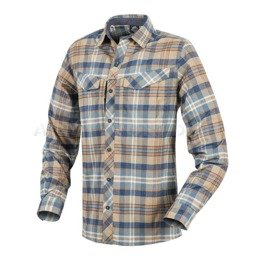 Tactical shirt Defender Mk2 Pilgrim Long Sleeves Helikon-Tex Ginger Plaid