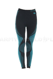 Thermoactive Pants For Ladies DRY Brubeck Black/Turquoise SALE