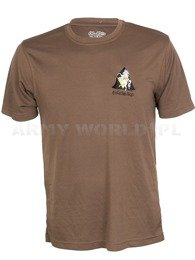 Thermoactive T-shirt Coolmax With Badge Brown Original Used