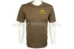 Thermoactive T-shirt Coolmax With Badge Brown Used