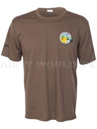 Thermoactive T-shirt Coolmax With Badge Catalina Brown Original Used