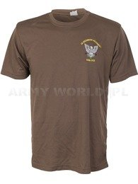 Thermoactive T-shirt Coolmax With Badge Engineer Regiment Brown Original Used