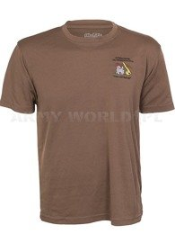 Thermoactive T-shirt Coolmax With Badge Last Bastion Brown Original Used