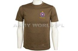 Thermoactive T-shirt Coolmax With Badge Militia Nobis Studium Brown Used