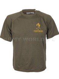 Thermoactive T-shirt Coolmax With Badge Signal Regiment Olive Original Used