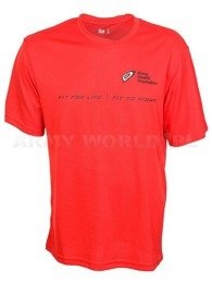 Thermoactive T-shirt Coolmax With Print Red Original Used