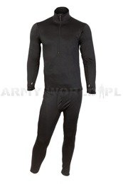 Thermoactive underwear Level 2 III Gen. Mil-tec Black - Set - Shirt + Drawers