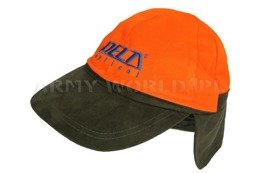 Two-Sided Hunting Cap Delta Olive-Bright Orange New
