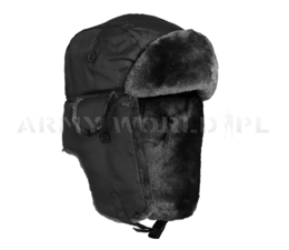 Usztka Cap Ushanka Pilotka MA1 Winter Black New
