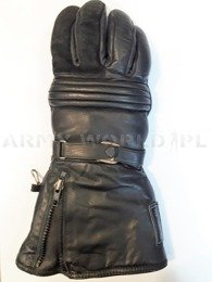Warmed Leather Motorcycle Gloves THERMO-ALU Dutch Army Surplus Used