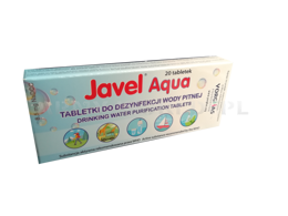 Water Purification Tablets Javel 20 Tabs
