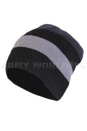 Winter Hat Black-Grey Military Surplus Used