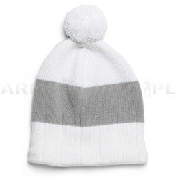 Winter Hat POM Satila White-Grey New