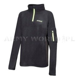 Women Long Sleeve Jacket 1/2 Zip Carbon Fibre Sweat Berg Outdoor Black New