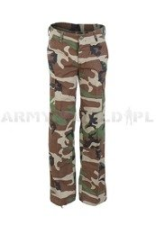 Women's Cargo Pants Model US Ripstop Woodland Mil-tec New
