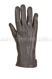 Women's Dutch Army Leather Gloves Brown Genuine Military Surplus New