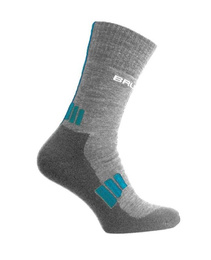 Women's Socks Trekking Light Brubeck Graphite-Turkois