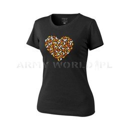Women's T-shirt Helikon-Tex Chameleon Heart Black