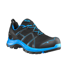 Workwear Boots Haix ® BLACK EAGLE Safety 40 Low Gore-tex  Black/Blue Art. Nr :610001 II Quality New