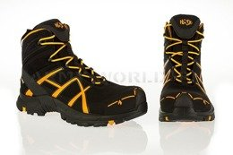 Workwear Boots Haix ® BLACK EAGLE Safety 40 Mid Gore-tex  Black/Orange Art. Nr :610017 III Quality New