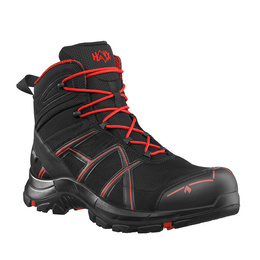Workwear Boots Haix ® BLACK EAGLE Safety 40 Mid Gore-tex  Black/Red Art. Nr :610018 II Quality New