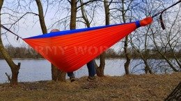 Zen Hammock + Ultralight Carabiners Bushmen Orange-Blue New