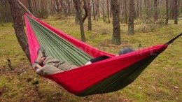 Zen Hammock + Ultralight Carabiners Bushmen Red-Green New