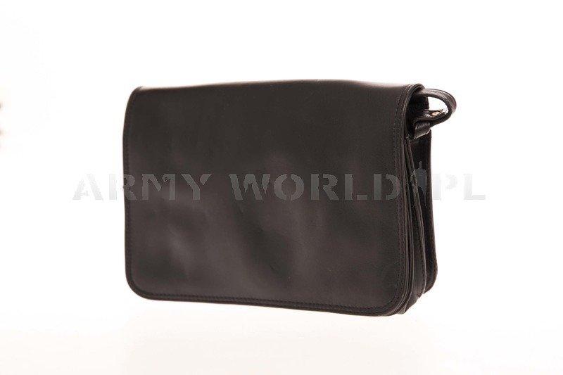 British Army Leather Women's Bag M3 Black Genuine Military